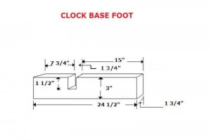 Clock Base Foot