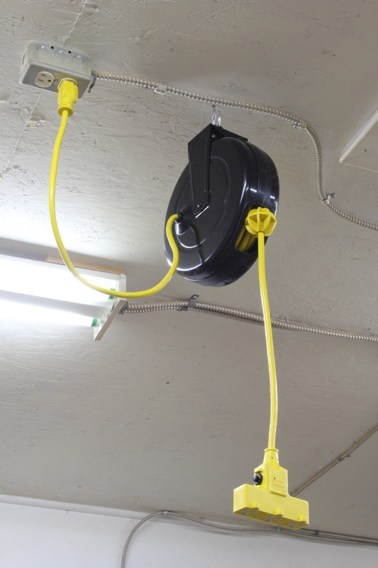 Retractable Extension Cord Reel >> Eliminating Extension Cord Tripping Hazards. | GordGraff.com